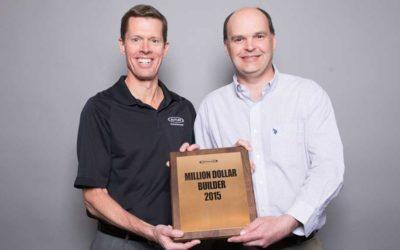 W.K. Thomas receives Million Dollar Builder Award